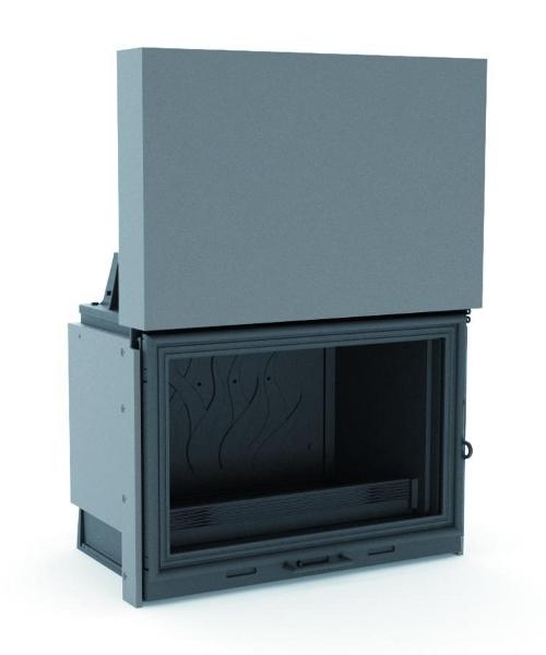 foyer bois fonte flamme 775 soditherm. Black Bedroom Furniture Sets. Home Design Ideas