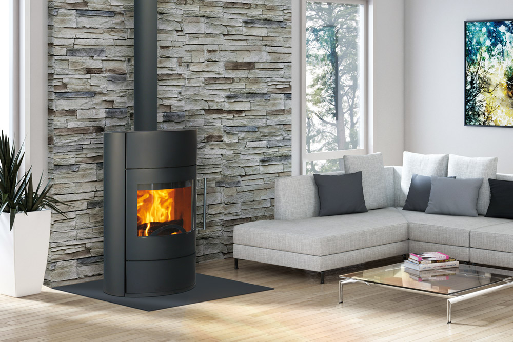 Po le bois fifty fonte flamme soditherm for Poele a bois foyer fonte