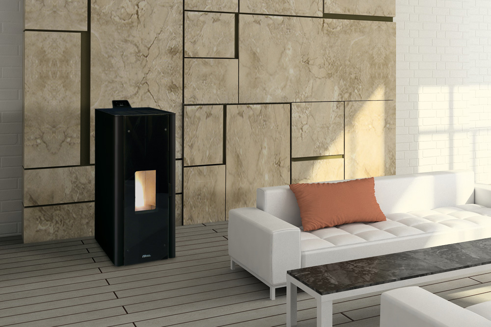 po le granul s oria fonte flamme soditherm. Black Bedroom Furniture Sets. Home Design Ideas